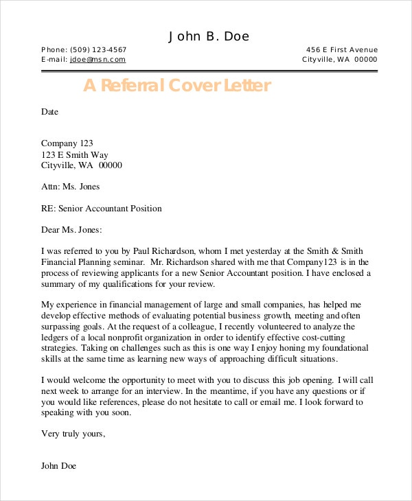 Cover letter template 26 free word pdf documents for Cover letter for any open position