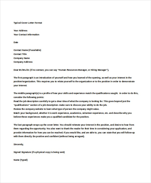 25 cover letter templates samples doc pdf free for How to address a cover letter without an address