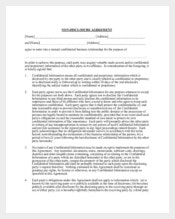 Example Business Non Disclosure Confidentiality Agreement