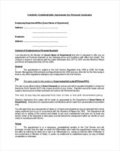 Celebrity Confidentiality Agreement For Example Personal Assistant