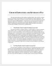 Church Employee Confidentiality Agreement
