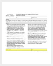 Example Confidentiality Agreement and Assignment of Church Work Product