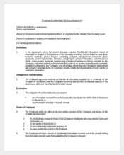 Employee Confidentiality Disclosure Agreement Example