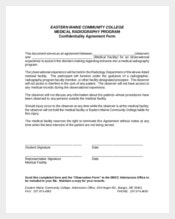 Medical Facility Confidentiality Agreement Sample