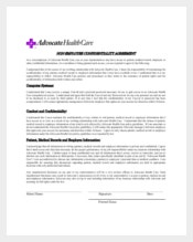 Medical Procedure Confidentiality Agreement Example