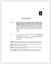 Real Estate Employee Confidentiality Agreement Sample