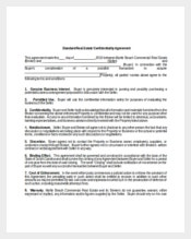 Sample Standard Real Estate Confidentiality Agreement