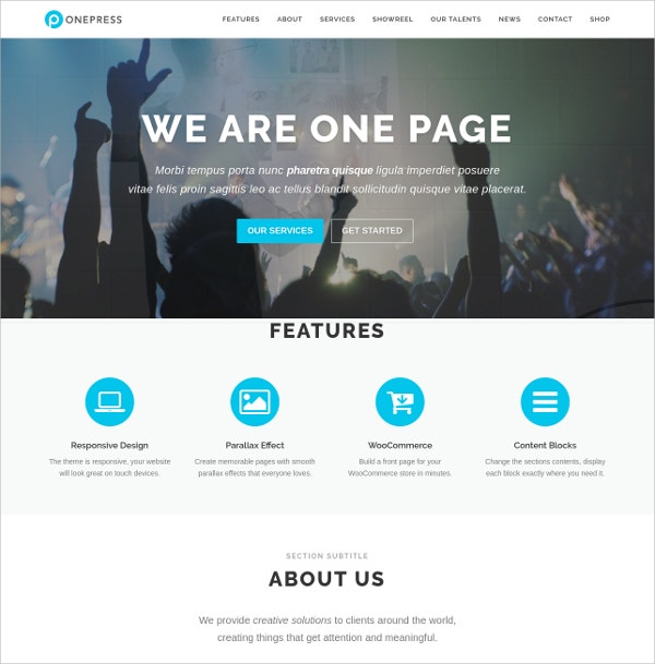 creative business free wordpress theme