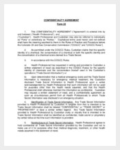 Generic Confidentiality Agreement Form Example