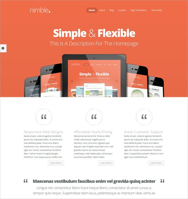 free fully responsive design business wordpress theme