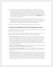 Employee Non Disclosure and Confidentiality Agreement Sample