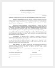 Basic Personal Non-Disclosure Agreement Example