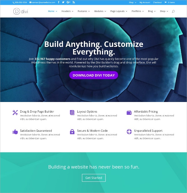 Free Amazing Business WordPress Theme