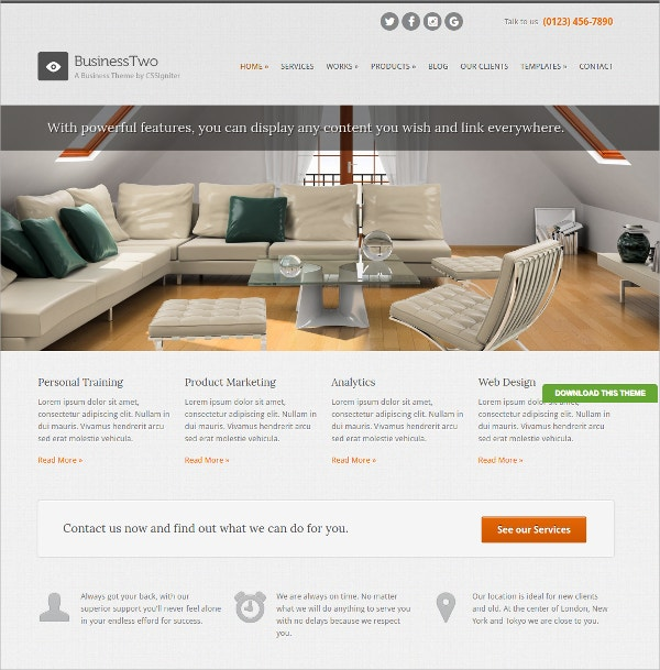 Free Portfolio Business WordPress Theme