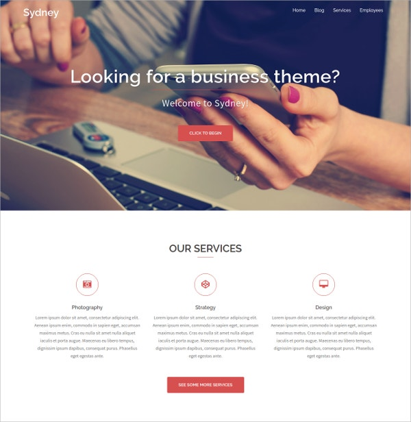 free powerful business wordpress theme