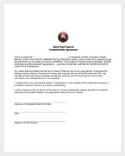 Church Generic Confidentiality Agreement Example