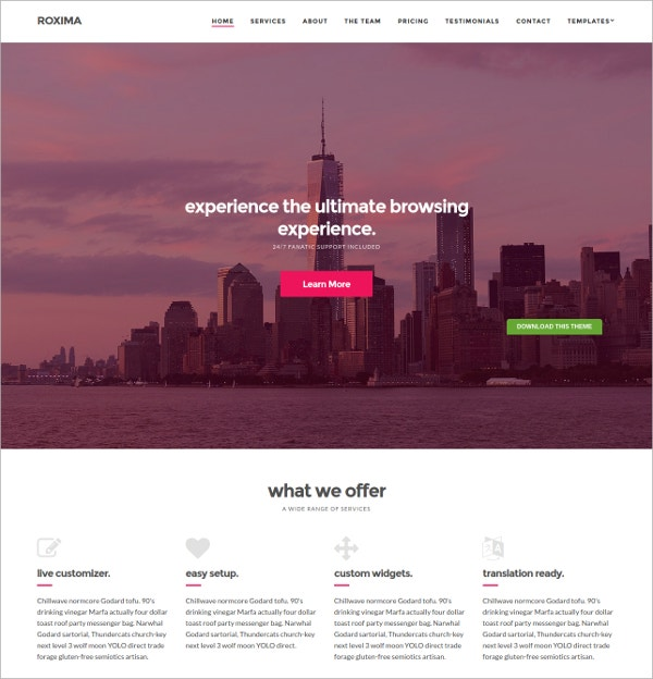Free Design Business WordPress Theme