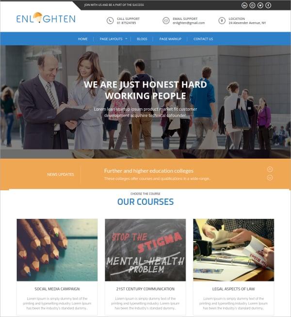fre responsive education wordpress theme