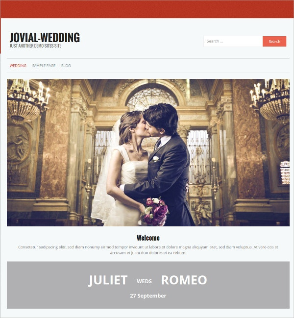 free music wedding wordpress theme