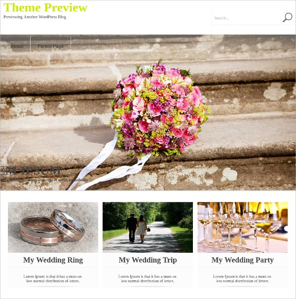 free wedding photographers wordpress theme
