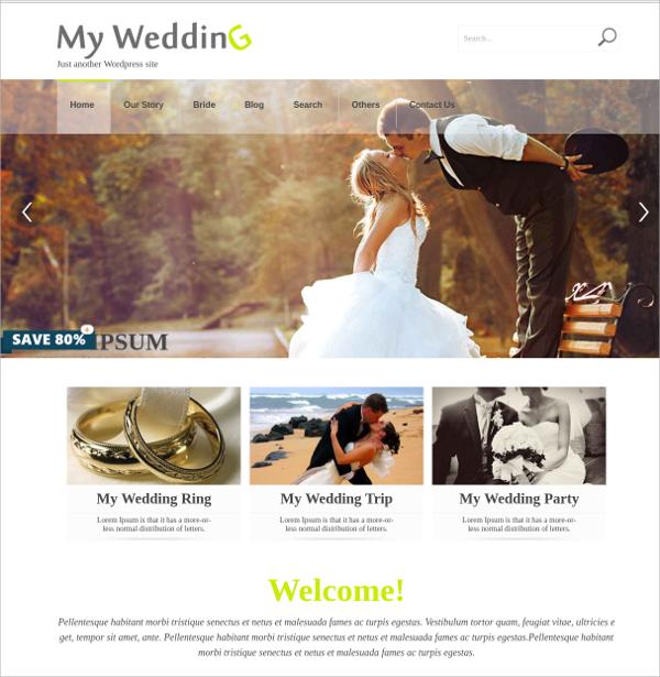 free elegant wedding wordpress theme