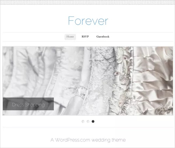 Free Simple Wedding WordPress Theme