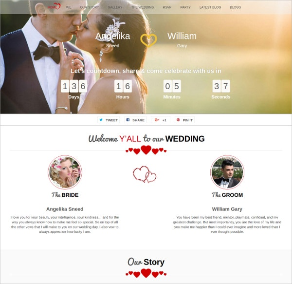Unique Free Wedding Agency WordPress Theme