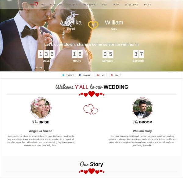 unique free wedding agency wordpress theme