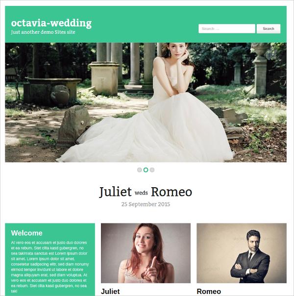free beautiful wedding wordpress theme