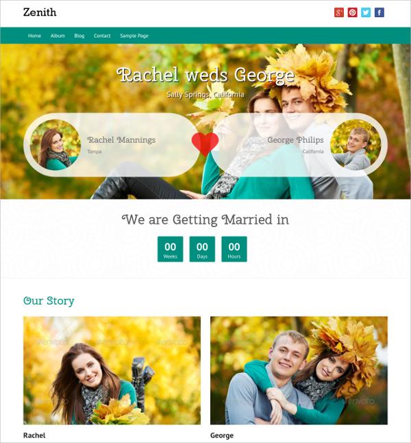 free love wedding wordpress theme