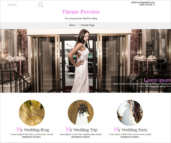 Free Design Wedding WordPress Theme