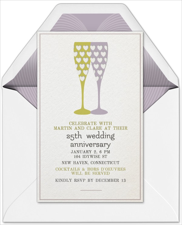 21+ Wedding Anniversary Invitation Card Templates Which Will Melt