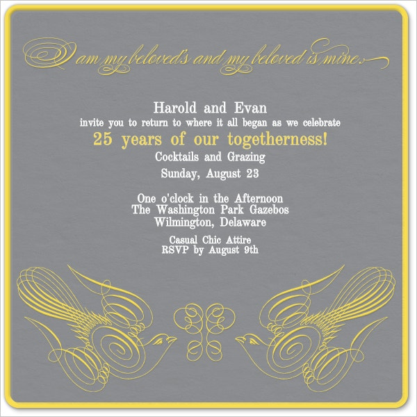 21 Wedding Anniversary Invitation Card Templates Which Will Melt – Templates for Invitation
