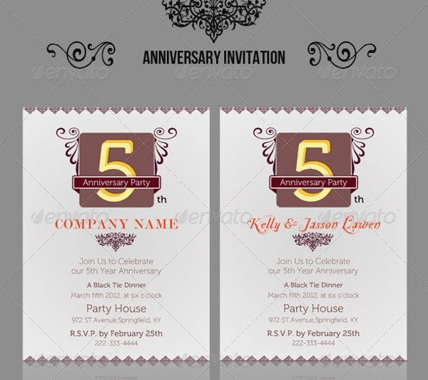anniversary invitation card template download