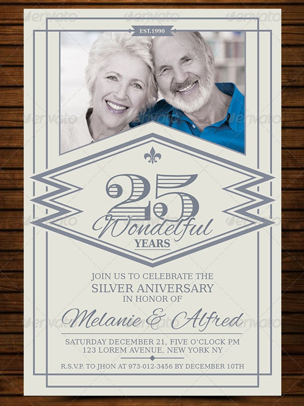 download vintage anniversary invitation card template