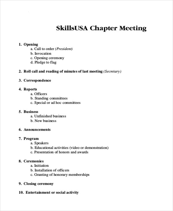 Meeting Itinerary Template  SaveBtsaCo
