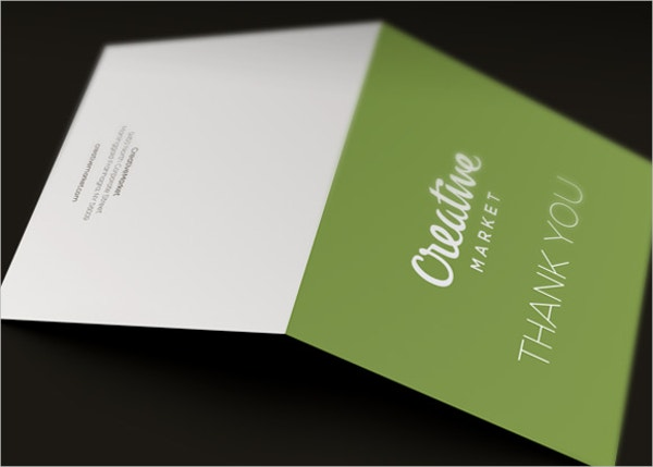 blank corporate thank you card