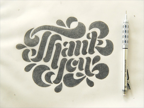letter press thank you card