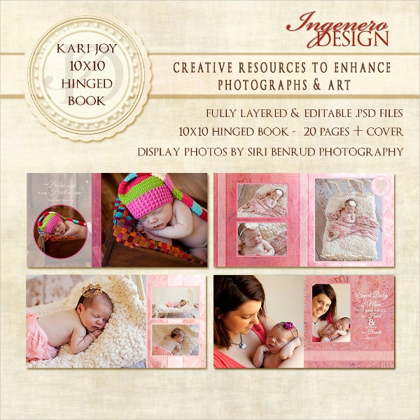 baby girl photo book template