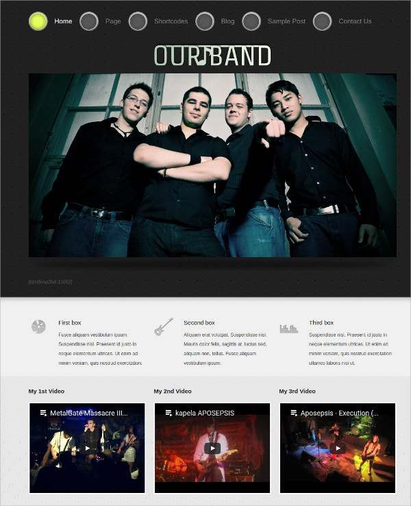 Free Design Music WordPress Theme