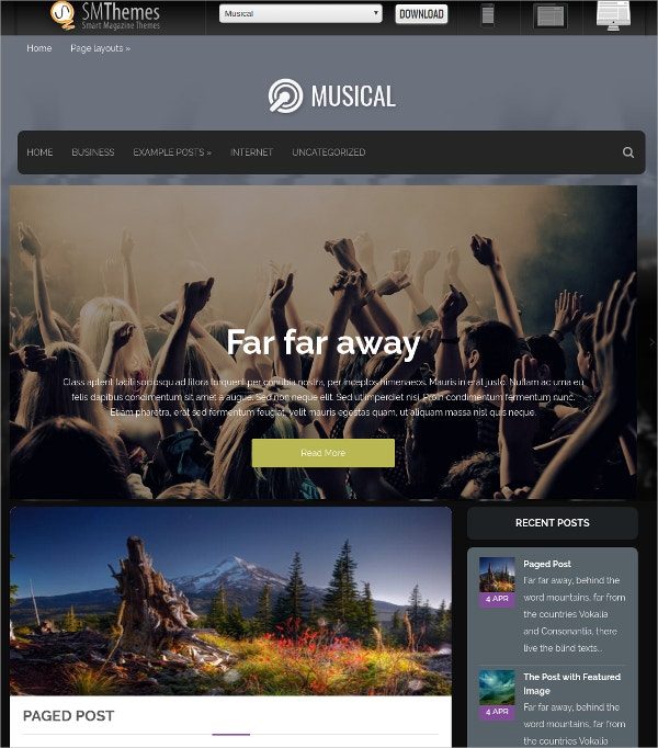 premium free musical wordpress theme