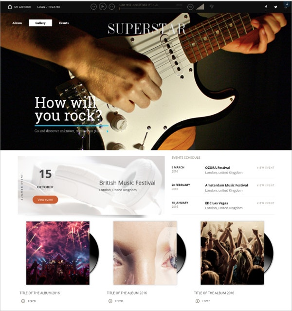 Free Music Band Organizer WordPress Theme