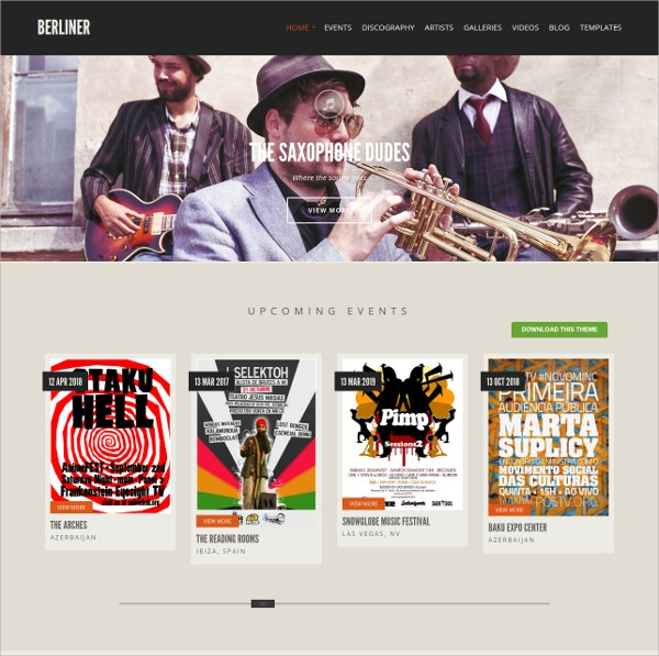 free dj music artist wordpress theme