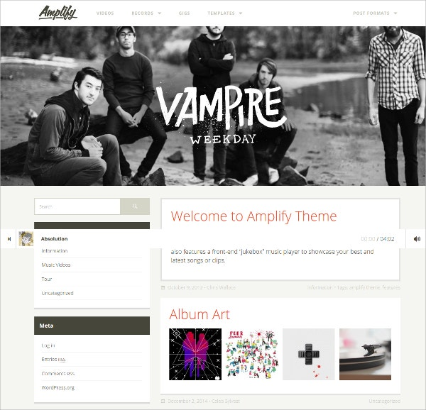 Free Musicians, Dj & Nightclub WordPress Theme