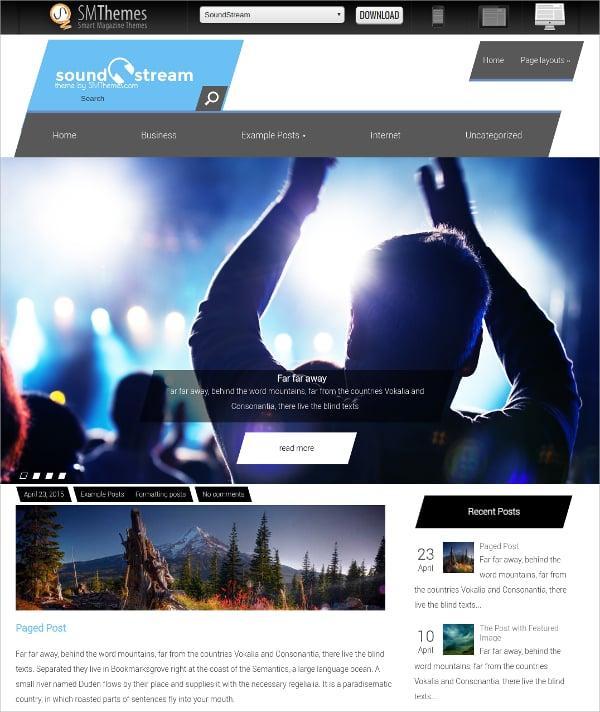 Free DJ & Musician Portfolio WordPress Theme