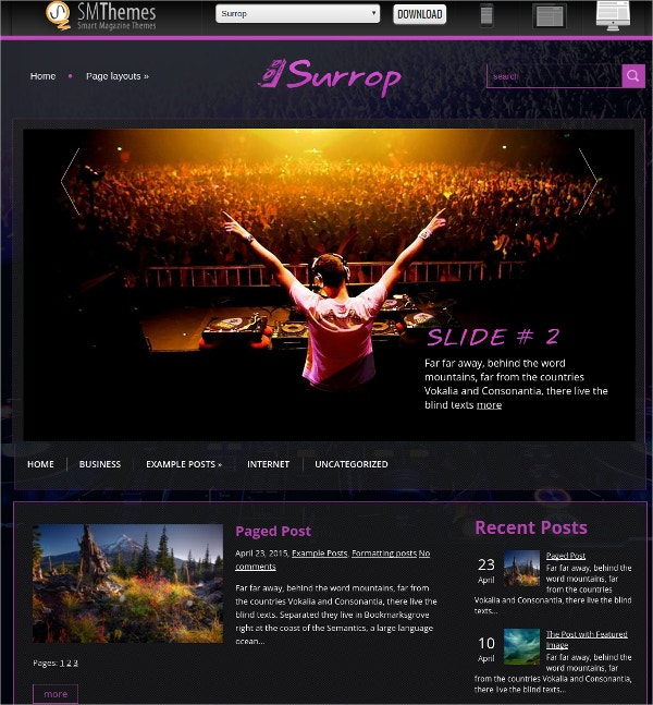 Free Beautiful Dj,Music WordPress Theme