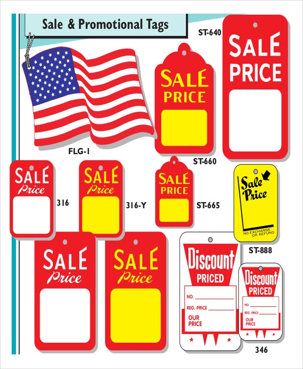 price tags label template