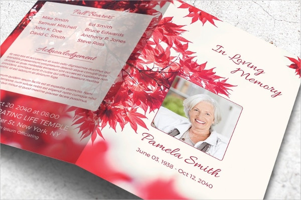 Floral Funeral Stationery Template