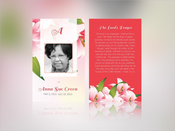 Petals Funeral Stationery Publisher Template