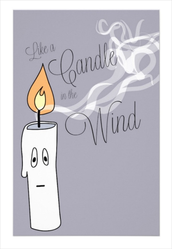 Candle in the Wind Funeral Stationery Template